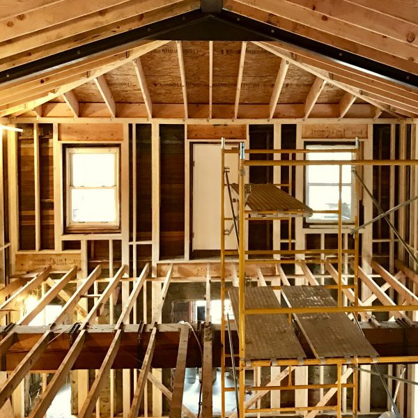framing out a custom home